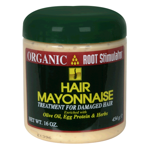 Hair with mayonnaise